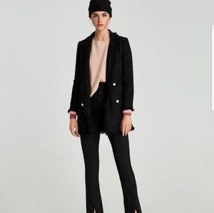 Nwt Zara Tweed Pearl blazer